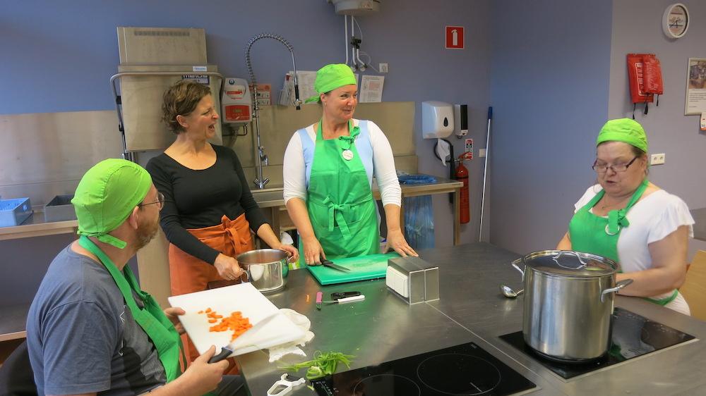 Foto bij en Knop naar kookgroep 't Hert