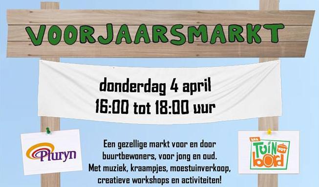 4 april voorjaarsmarkt Klokketoren