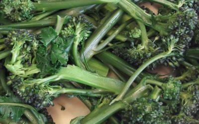 Broccoli-champignonsoep op het menu