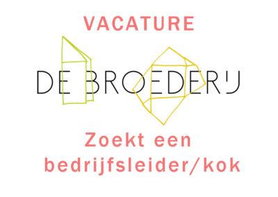 Vacature Bedrijfsleider/kok bij 'Van Tuin Tot Bord'