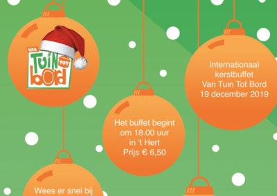 VTTB Kerst-buffet op 19 december in 't Hert