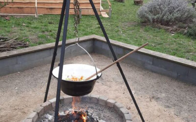koken op houtvuur